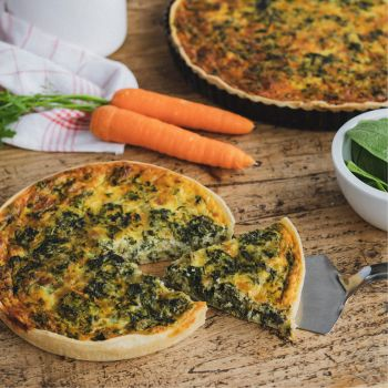 Gluten-free Spinach and carrot Quiche
