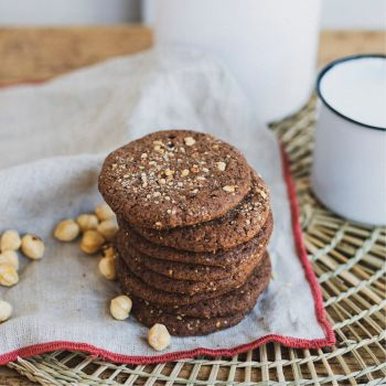 Choco and hazelnut gluten-free biscuits