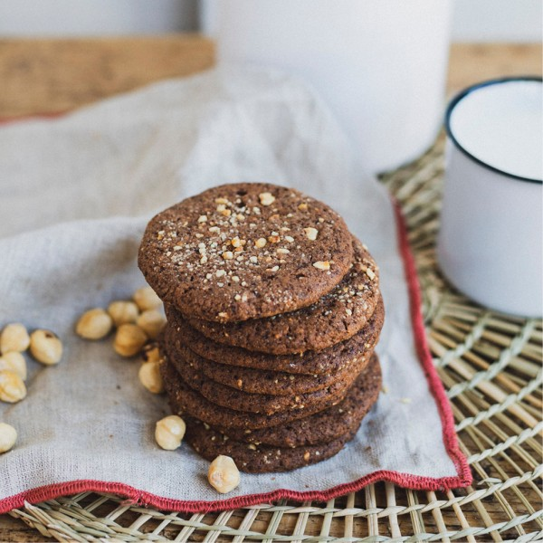 Cookies de choco y avellanas