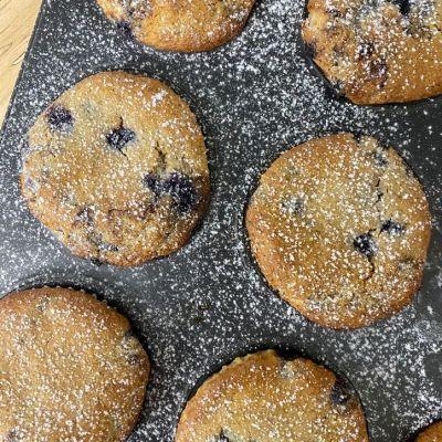Cheesecake Muffins con Arándanos sin gluten