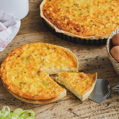 Gluten-free Leek and carrot Quiche