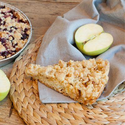 Apple crumble vegan and glutenfree