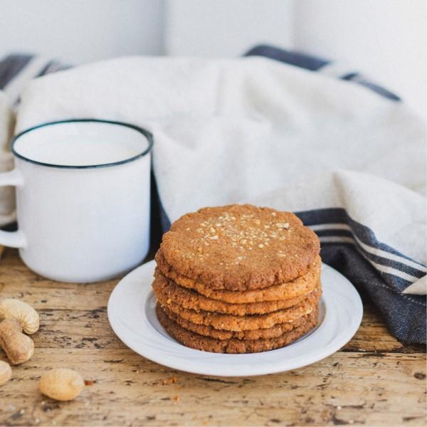 Cookies de cacahuete: veganas y sin gluten
